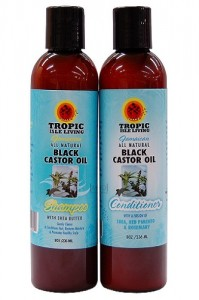 Tropic Isle Jamaican All Natural Black Castor Oil Hair Care Combo Set